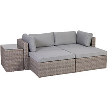 Greemotion Lounge Set Palma, grau, 12-teilig