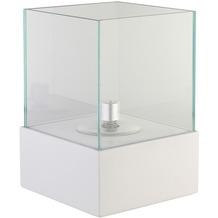 Greemotion Öllampe weiß,Faserzement mit Glasaufsatz