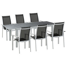 Greemotion Set Monza, 160/240 x 75 x 90 cm, 7-teilig, Stapelsessel