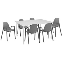 Greemotion Set Toulouse, 140 x 74 x 90 cm, grau, 7-tlg