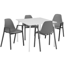 Greemotion Set Toulouse, 90 x 74 x 90 cm, grau 5-tlg