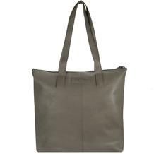 Greenburry Boomer Shopper Tasche Leder 39 cm taupe