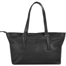 Greenburry Boomer Shopper Tasche Leder 40 cm black