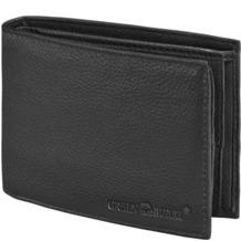Greenburry Herren Geldbörse Querformat Leder GB-002-20 12 cm mit Klappfach black