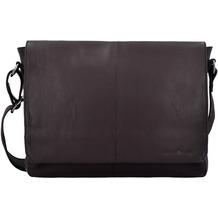 Greenburry Pure Messenger Umhängetasche Leder 34 cm Laptopfach dark brown