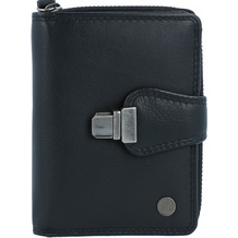 Greenburry Spongy Geldbörse Leder 9 cm black