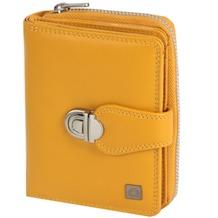 Greenburry Spongy Geldbörse Leder 9 cm yellow