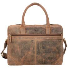 Greenburry Vintage Aktentasche Leder 41 cm Laptopfach nut brown