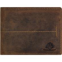 Greenburry Vintage Geldbörse Querformat Leder 12 cm mit Klappfach brown