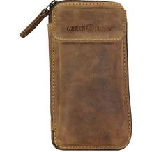 Greenburry Vintage Gürteltasche Leder 14,5 cm brown