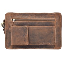 Greenburry Vintage Herrentasche Leder 22 cm brown