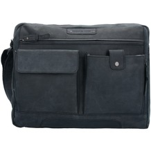 Greenburry Vintage Revival Aktentasche Leder 38 cm Laptopfach black