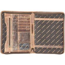 Greenburry Vintage Ringmappe Leder 26 cm braun