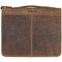 Greenburry Vintage Ringmappe Leder 29 cm braun