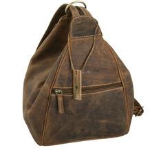 Greenburry Vintage Rucksack Leder 26 cm sattelbraun