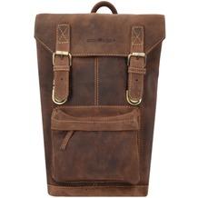 Greenburry Vintage Rucksack Leder 42 cm Laptopfach brown