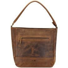 Greenburry Vintage Schultertasche Leder 33 cm braun