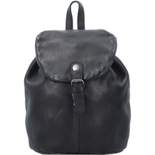 Greenburry Vintage Washed City Rucksack Leder 26 cm black