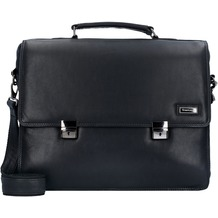 Greenland Black Nappa Aktentasche Leder 40 cm Laptopfach black