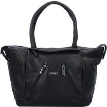 Greenland Black Nappa Shopper Tasche Leder 33 cm black