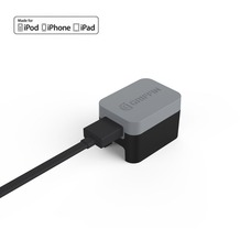 Griffin PowerBlock Wand-Ladegerät, Lightning, 2,4A/12W, grau/schwarz, GE43014