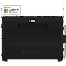 Griffin Survivor Slim Case mit Schultergurt, Microsoft Surface Go, schwarz, bulk,  GFB-012-BLK
