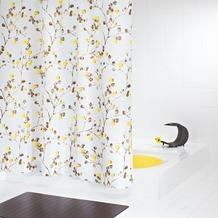 GRUND Duschvorhang BACCHE weiss-braun-geld 180x200 cm