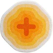 GRUND Badteppich KARIM RASHID Concept 03 230 gelb 90 cm rund