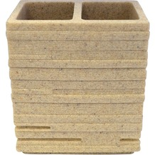 GRUND Zahnputzbecher BRICK, ecru 10,1x6,3x11,5 cm