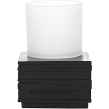 GRUND Zahnputzbecher BRICK, schwarz 8,3x8,3x9,5 cm