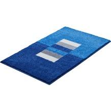GRUND CAPRICIO Badteppich Blau 55 x 60 cm WC-Vorleger mit Ausschnitt