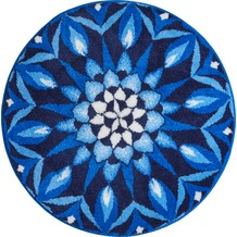GRUND CHAKRA Badteppich Blau ø 80 cm