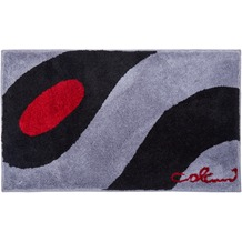 Colani 35 Badteppich hellgrau-schwarz 60 cm x 100 cm