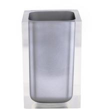 GRUND Zahnputzbecher CUBE, grau 7x7x11 cm