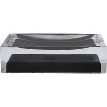 GRUND Seifenablage CUBE, schwarz 11x7x3 cm