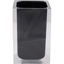 GRUND Zahnputzbecher CUBE, schwarz 7x7x11 cm