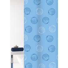 GRUND Duschvorhang Mara weiß/blau 180x200 cm