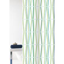 GRUND Duschvorhang Tenura weiß/grün 180x200 cm