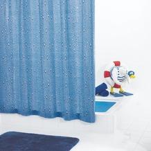 GRUND Duschvorhang GOCCE blau 180x200 cm