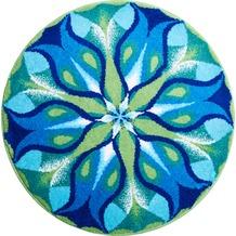 GRUND Mandala STILLES LICHT blau-grün 100 cm rund
