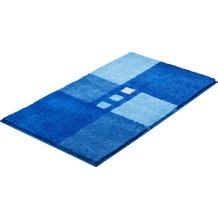 GRUND MERKUR Badteppich Blau 50 x 60 cm WC-Vorleger mit Ausschnitt