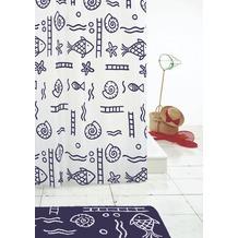 GRUND Duschvorhang RICCIONE weiss-blau