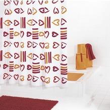 GRUND Duschvorhang SOGNO rot-orange 180x200 cm