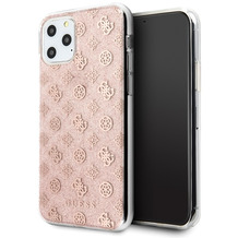 Guess 4G Peony Solid Glitter Case - Apple iPhone 11 Pro Max - Pink - Cover - Schutzhülle
