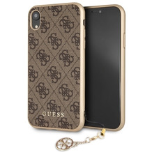 Guess Charms - Hardcover 4G - Apple iPhone 6.5 XS Max - Braun