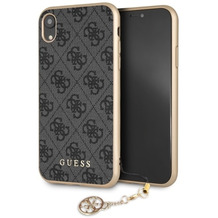 Guess Charms - Hardcover 4G - Apple iPhone 6.5 XS Max - Grau