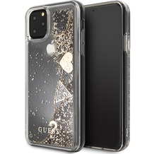 "Guess Hard Case - ""Hearts"" Glitter - Apple iPhone 11 Pro - Gold - Schutzhülle Cover"