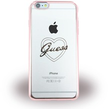 Guess Heart Silikon-Case für Apple iPhone 6/6S, roségold