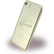 Guess Heart - Silikon Case - Apple iPhone 7 - Gold