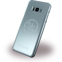 Guess Korry Aluminium Hardcover - Samsung G955F Galaxy S8 Plus - Silber